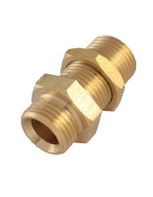 Brass IS-319 / BS - 218 Bulk Head Male Connector - BMC