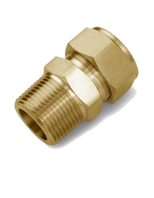 Brass IS-319 / BS - 218 Male Connector BSP-M