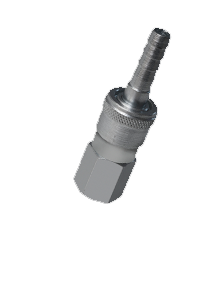 Stainless Steel 304 Single Shut Off Quick Coupling